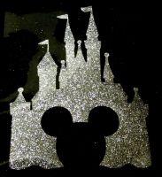 Disney Castle - Silver Glitter