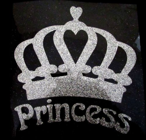 Princess Crown #1 - Silver Glitter