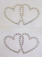 Small Linked Hearts x 2 - Clear