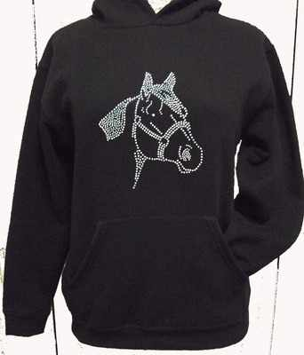 Horse / Pony Hoodie - Style 1 - 12-13 Years
