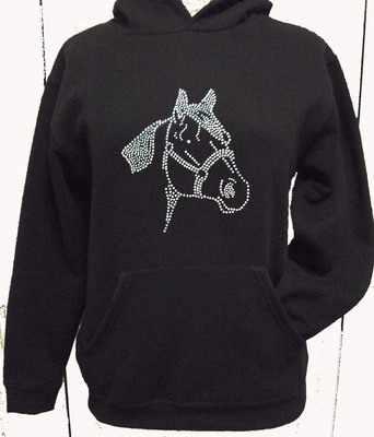 Horse / Pony Hoodie - Style 1 - 12-13 Years