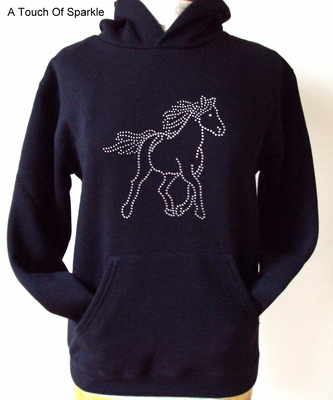 Horse / Pony Hoodie - Style 2 - 12-13 Years