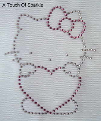 Hello Kitty / Heart - Pink & clear