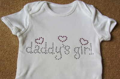 Daddy's Girl (Pink & Silver) - Bodysuit/Vest/Gro