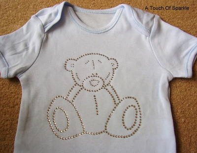 Teddy Bear (Clear) - Blue Bodysuit/Vest/Gro