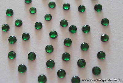 144 ss10 (3mm) GREEN Rhinestones
