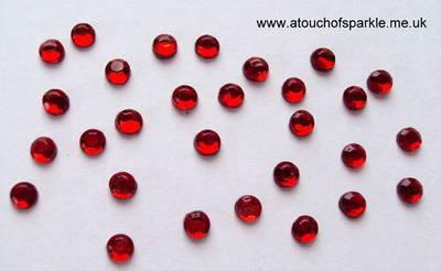 144 ss10 (3mm) SIAM / RED Rhinestones