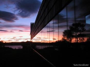 Klostervegg solnedgang