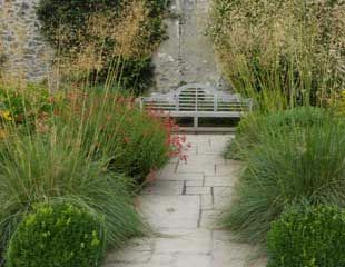 Lovely planting Stipa and Crocosmia