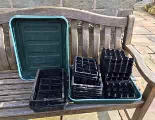 Seed trays and root trainers