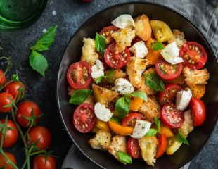 Panzanella salad a lovely dish of tomatoes, bread and olive oil