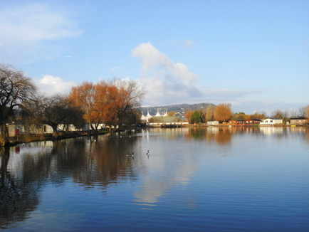 Fishing Lake at Butlins Minehead Lakeside Caravan Village
