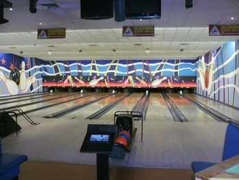 bowling alley at Butlins Minehead