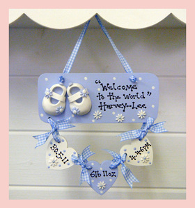 The crafty cabin home name plaques keepsake boxes personalised baby plaque negle Image collections