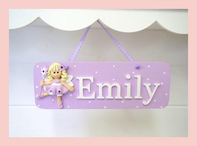 Fairy Girls Name Plaque