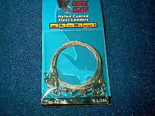 Eagle claw nylon coated steel leaders 12