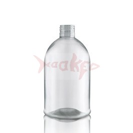 Clear 500ml plastic bottle with screw cap
