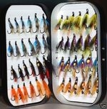 1 box of 48 assorted salmon flies
