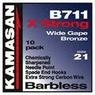 Kamasan B711 extra strong wide gape hooks.