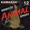 Kamasan animal barbless spade hooks.