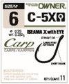 OWNER  C-5X Iseama carp extra eyed hooks size 12.