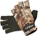 1pr of TFG  camo  neoprene fingerless gloves.