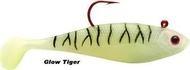 Storm Wildeye swim shad GT glow tiger.