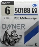 Owner carp hooks. Iseama ref 50188