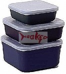 10 x maggot tubs with lids 2.2lt + free maggot riddle.