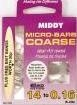 Middy micro barb coarse hooks to nylon #20.