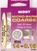 Middy mico barb coarse hooks to nylon #14.