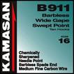 Kamasan B911 b/less wide gape swept point # 22. x 5pkts