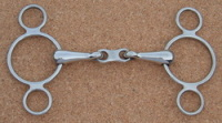 6.5 French Link Three Ring Gag
