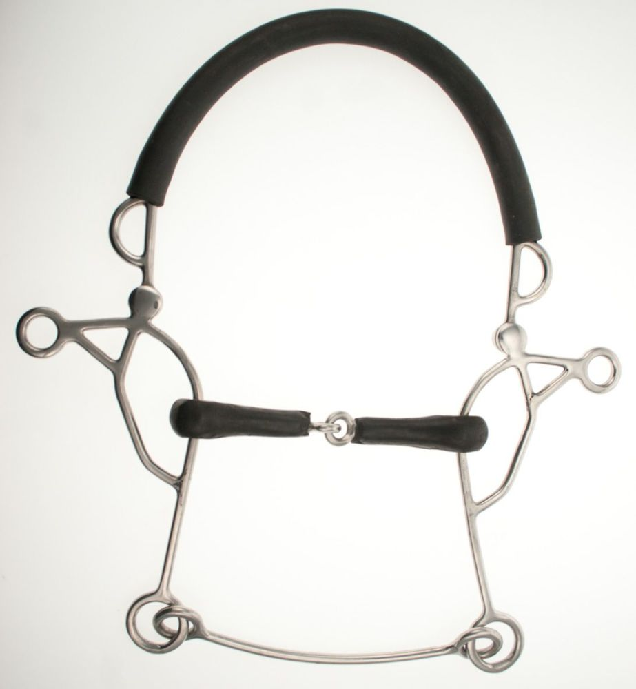 Abbey Vulcanite Jointed Combination Hackamore