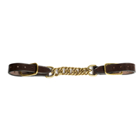 Stephens Leather Back Strap with Brass Chain