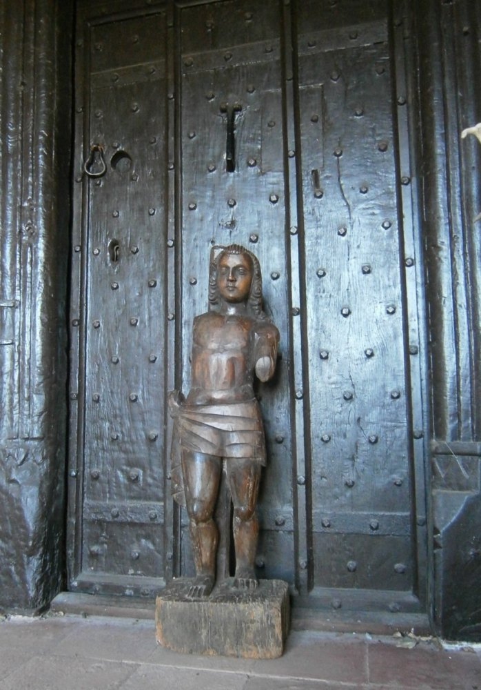 A 16th Century Carved Lime wood Figure Of St.Sebastian