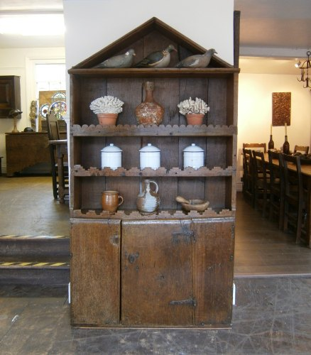 A 17th Century Folky Oak Dresser Of Primitive Construction