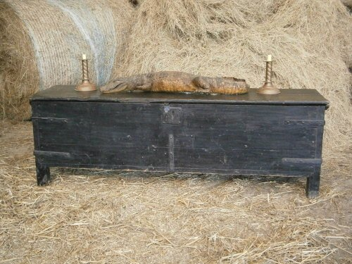 18th Century Iron Bound Pine Coffer