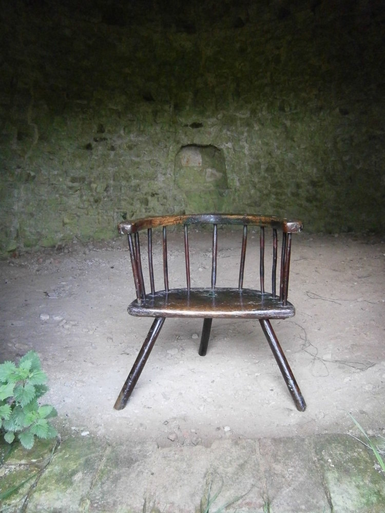 18th century Welsh Stick Chair With Heavy Traces Of Original Paint SOLD