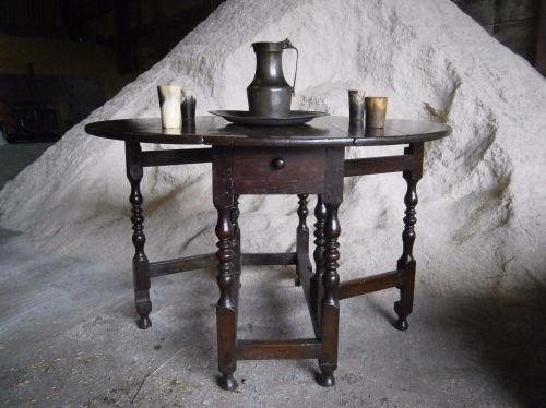 A 17th Century Oak Gate leg Table Of Small Size And Good Colour