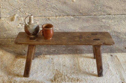 Late 18th Century Ash Bench Of Country Construction.