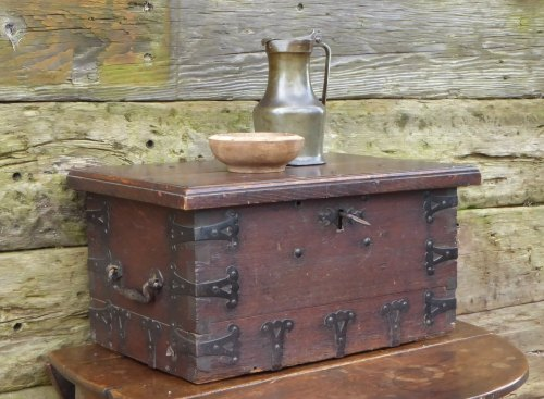 17th Century Oak And Iron Bound Strong Chest