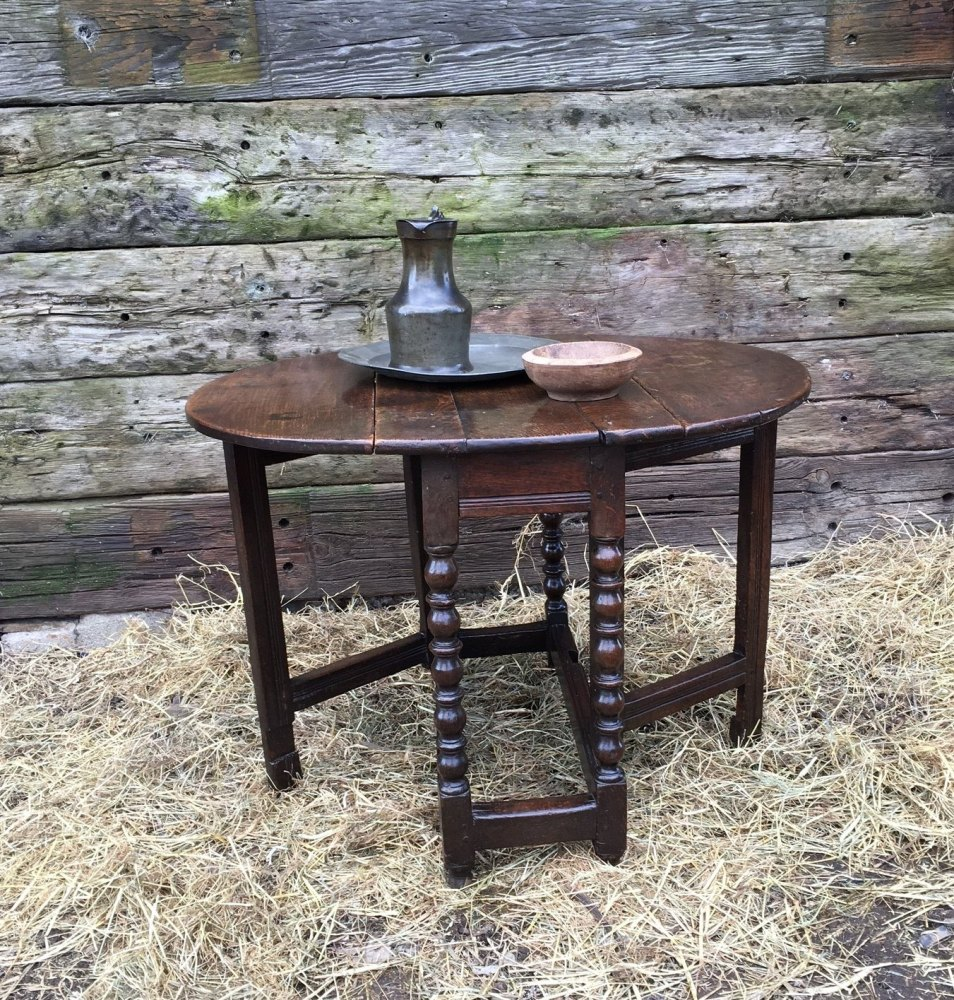 17th Century Oak Gateleg Table Of Small Size SOLD