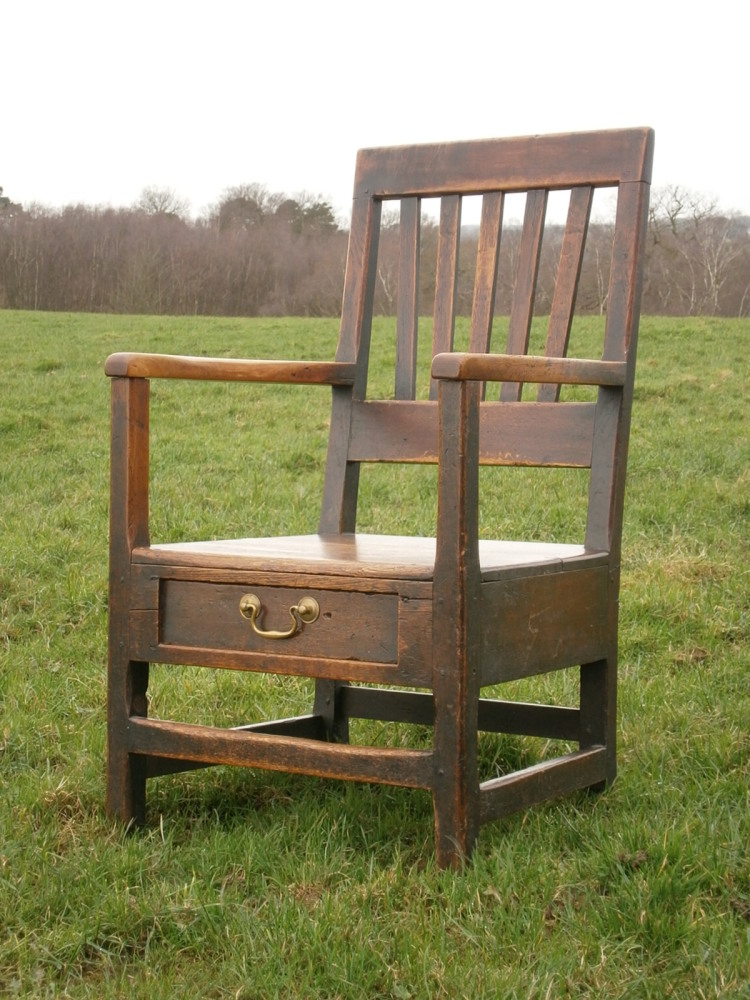 18th Century Welsh Oak And Fruitwood Lambing Armchair SOLD