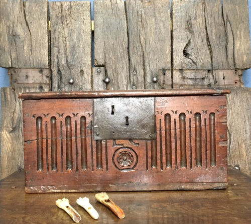 A 17th Century Country Oak Bible Box