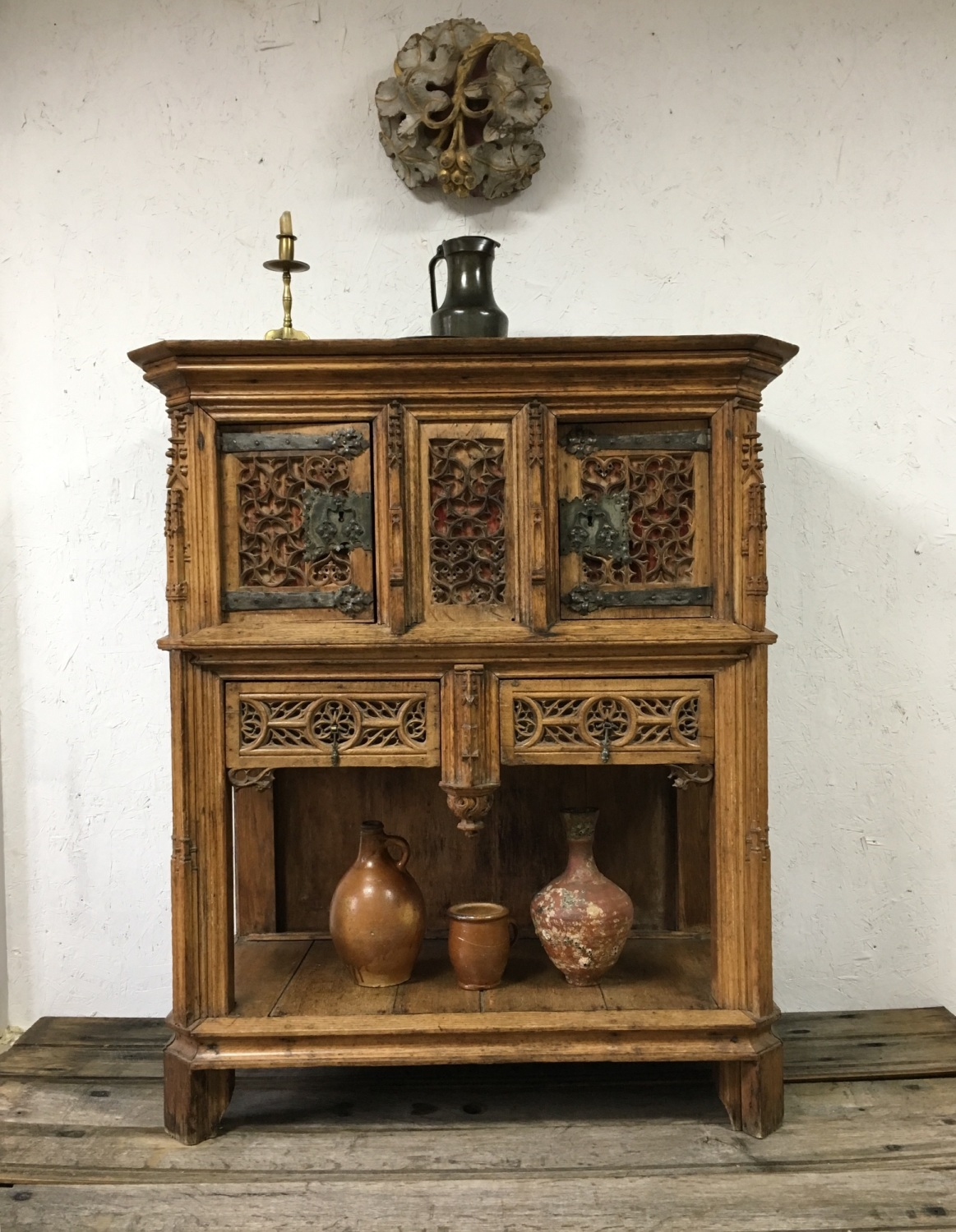 Late 15th Early 16th Century French Gothic Carved Oak Dressoir