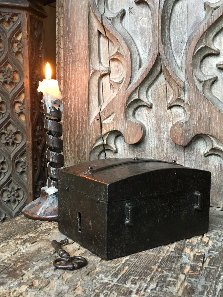 A Late 15th Century French Wrought Iron Missal Box