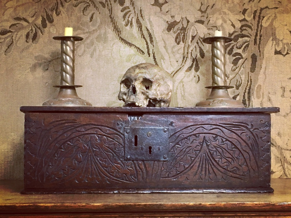 17th Century Carved Oak Bible Box SOLD