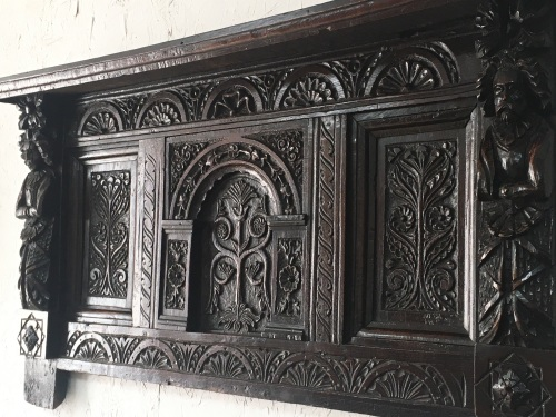 An Early 17th Century Carved Oak Somerset Overmantle