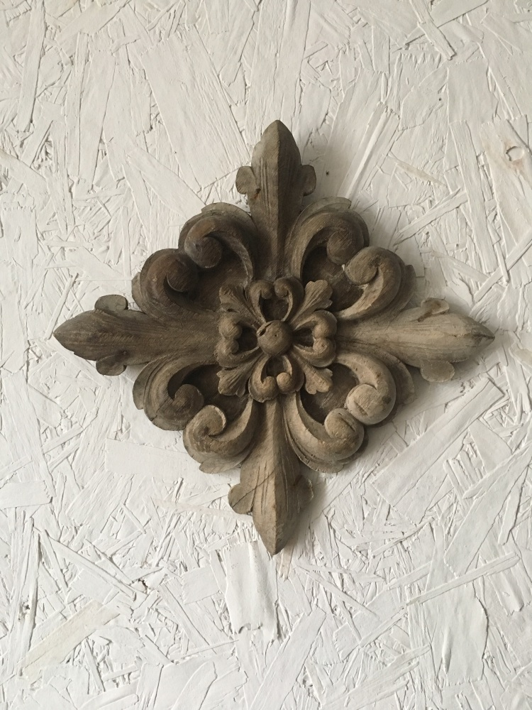 A 16th Century Carved Oak Quatrefoil Ceiling Boss